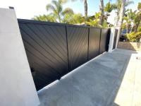 Closed black sliding gate